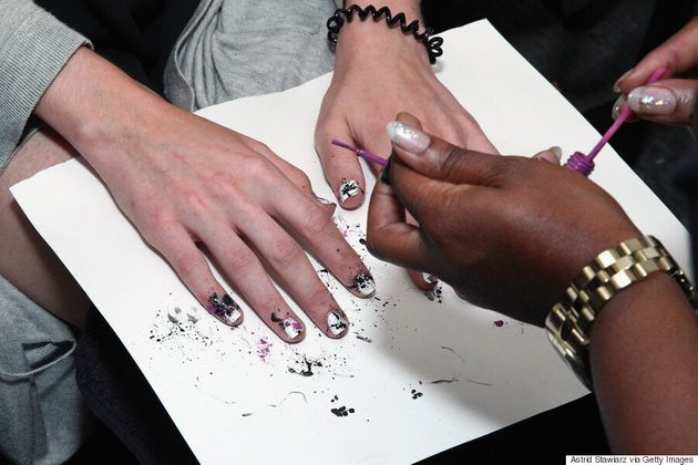 Spring Nail Art: Create A Paint Splatter Design Using A Bobby