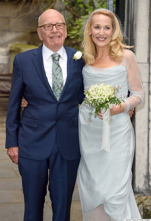 Jerry Hall Looks Stunning In Vivienne Westwood Wedding Dress As She Marries Rupert