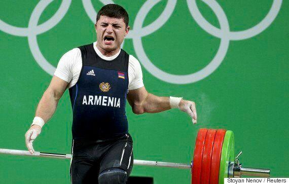 Andranik Karapetyan, Armenian Weightlifter, Suffers Unholy Elbow
