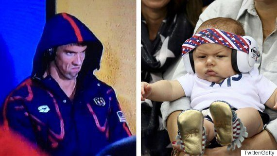 Boomer Phelps' Game Face Is Even Better Than His