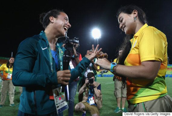 Lesbian Marriage Proposal At Olympics Steals The Show In Rio