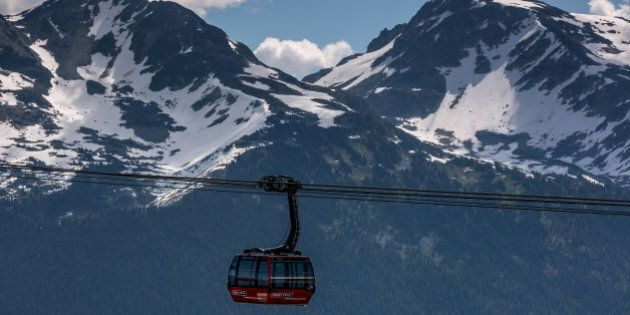 WHISTLER, CANADA - JUNE 29: Extreme sports participants head to the Whistler and Blackcomb ski resorts...