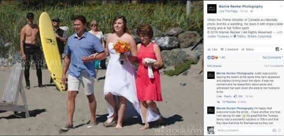 Shirtless Justin Trudeau Photobombs Wedding In Tofino,