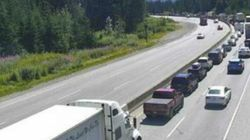 Coquihalla Closed After Semi Smashes Into 13 Other
