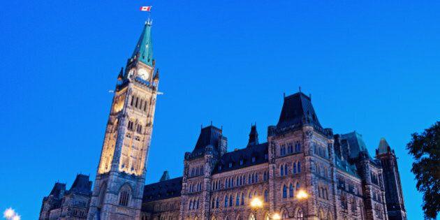Canada Parliament Building in Ottawa, Ontario,