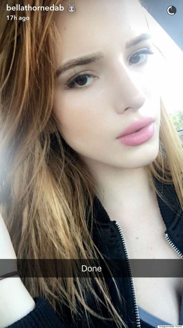 Bella Thorne Gets Her Eyebrows Tattooed On