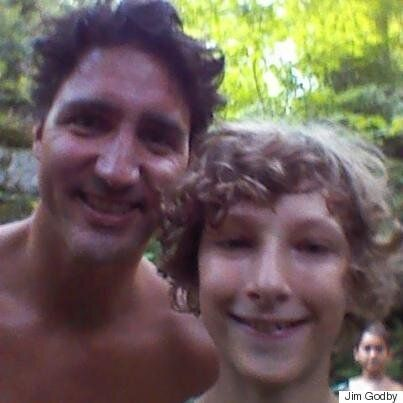 Shirtless Justin Trudeau Meets Family In Quebec Park, Poses For