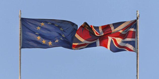 EU and UK flags coalition