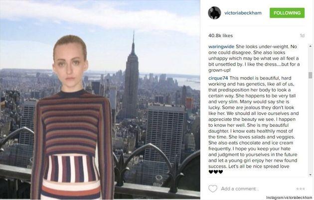 Canadian Model Chantal Habscheid Deemed 'Too Thin' On Victoria Beckham's