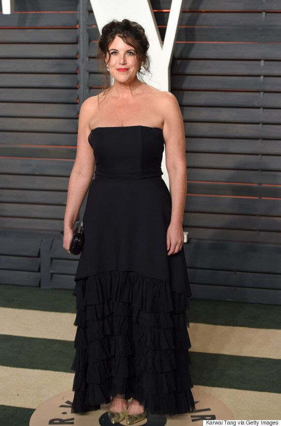 Monica Lewinsky Stands Out In Black At Vanity Fair Oscars