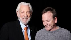 Donald And Kiefer Sutherland Share Screen In Alberta-Shot