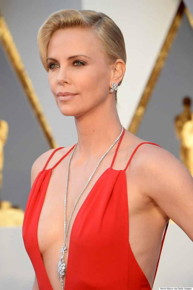 Charlize Theron's Oscars 2016 Gown Is Red