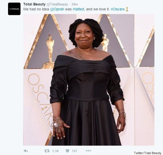 Whoopi Goldberg Mistaken For Oprah Winfrey On Oscars Red