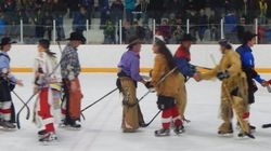 When These Cowboys And Indians Play Hockey, Great Things