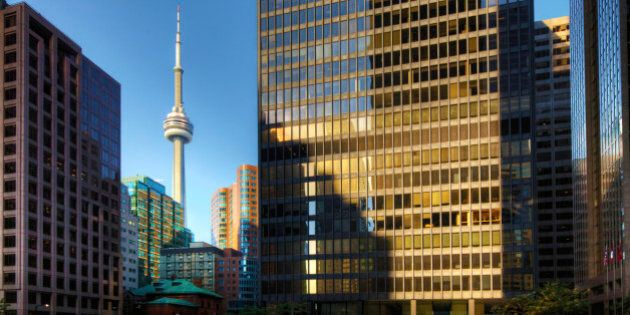Toronto, Canada, skyscrapers with CN tower in