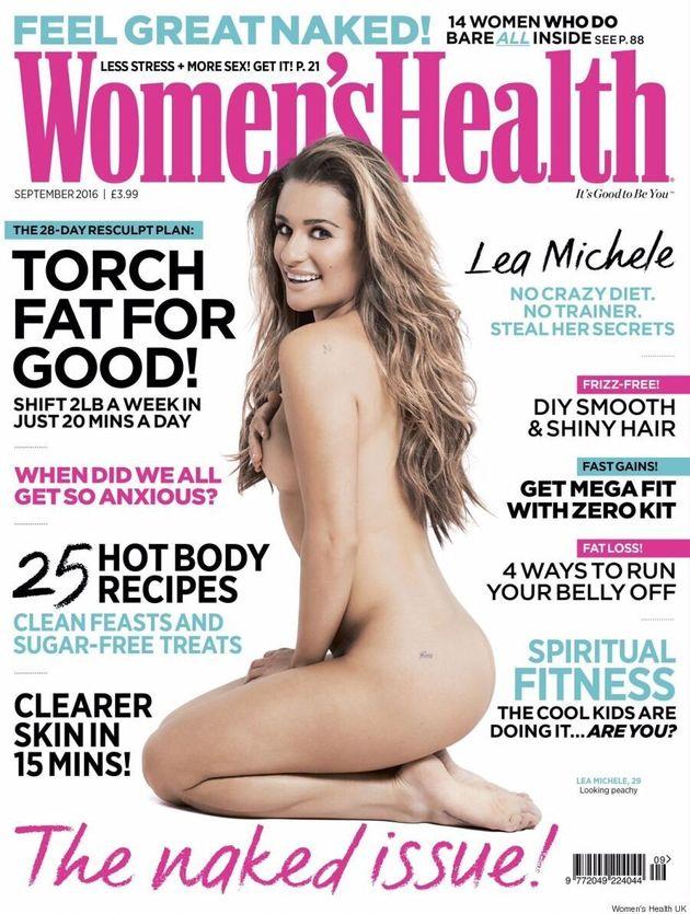 Lea Michele Poses Nude On Women's Health U.K., Shows Off 'Finn'