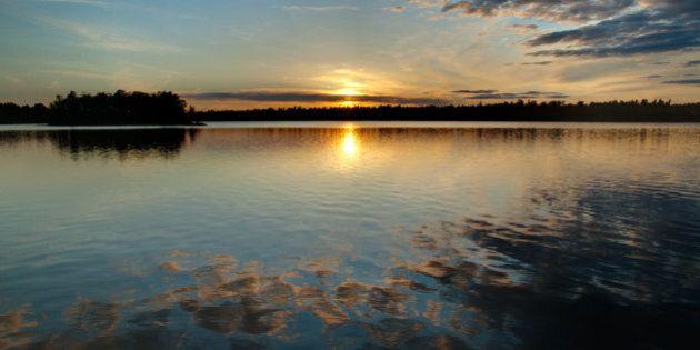Sunset on Black Lake near Perth,