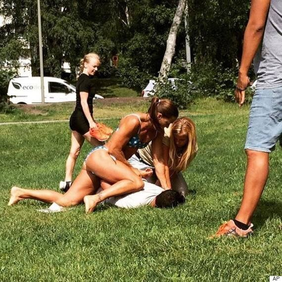 Mikaela Kellner, Swedish Police Officer, Arrests Suspected Thief While