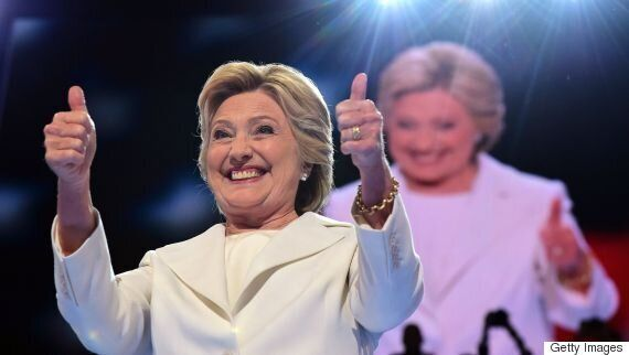 Hillary Clinton Accepts Presidential Nomination At Democratic National