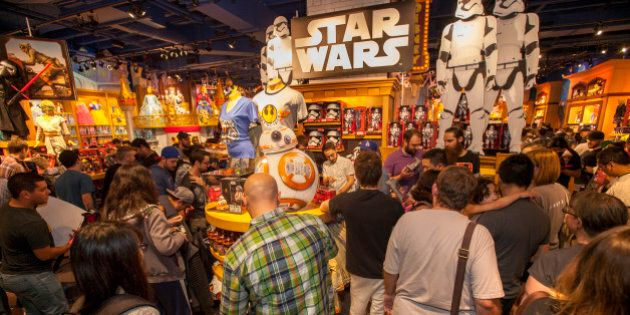 IMAGE DISTRIBUTED FOR DISNEY CONSUMER PRODUCTS - Fans enjoy midnight madness