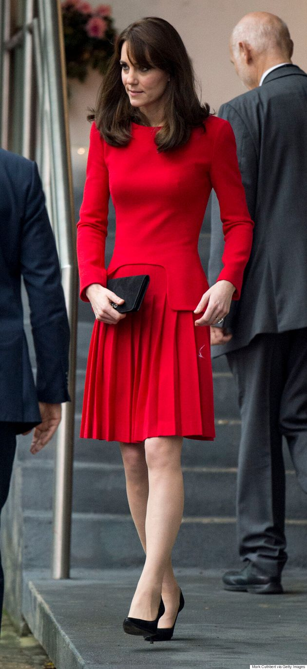 Kate Middleton Wears McQueen Dress To Children's Charity