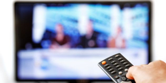 TV Remote Isolated on