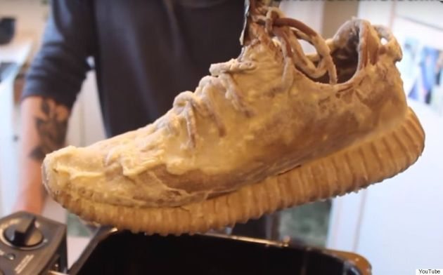 This Guy Just Deep-Fried His Yeezy Boost 350s Because He Thought It Would Be