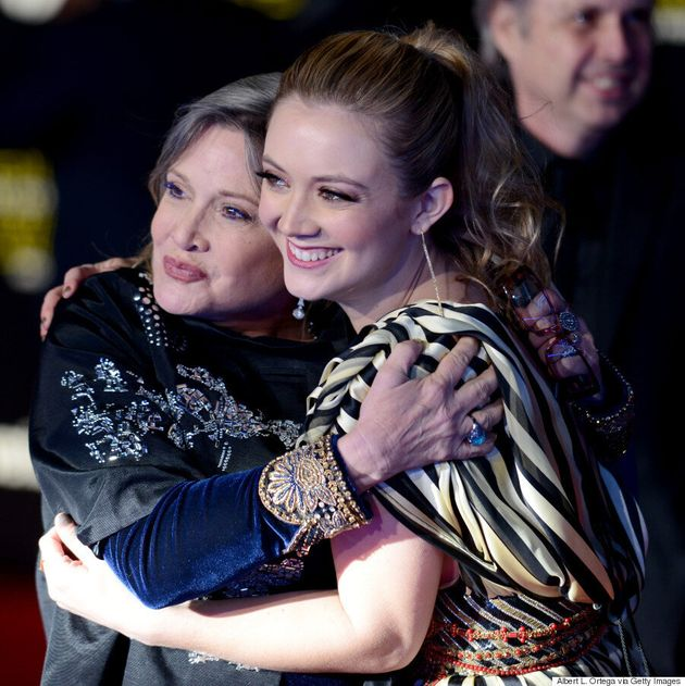 Carrie Fisher Brings Daughter Billie Lourd To The 'Star Wars'