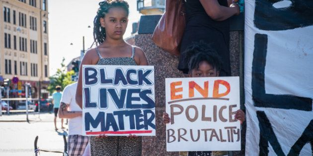 MöLLEVåNGSTORGET, MALMö, SKåNE, SWEDEN - 2016/07/21: Black Lives Matter demonstration. (Photo by...