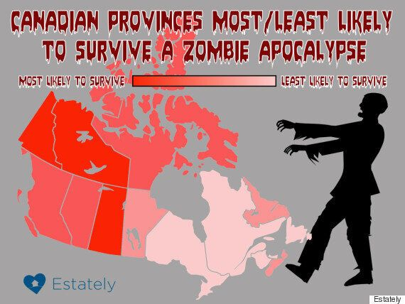 The Best And Worst Canadian Provinces For Surviving A Zombie ... Zombie Apocalypse Survival Map on zombie minecraft adventure maps, zombie survival map minecraft, zombie survival bike, zombie outbreak map, zombie city map, zombie survival sheet, zombie pandemic full map, zombie virus map, zombie survival city, zombie game maps, zombie infection map,