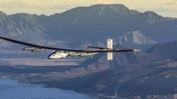 The Sun In The Centre: Airplane Solar Impulse Makes