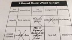 Alberta MP's 'Liberal Buzz Word Bingo' Game