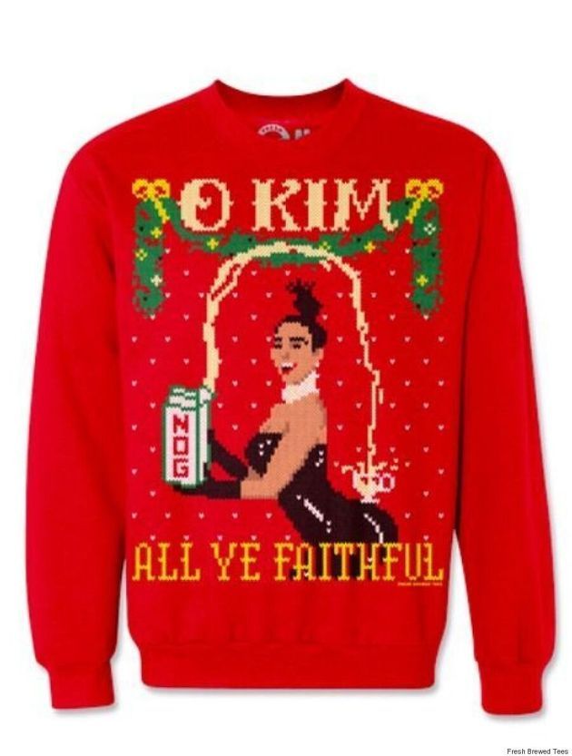 These Kim Kardashian And Kanye West Christmas Sweaters Are Perfect For The Kimye