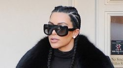 Kim Kardashian Wears A Jacket With Her Face On