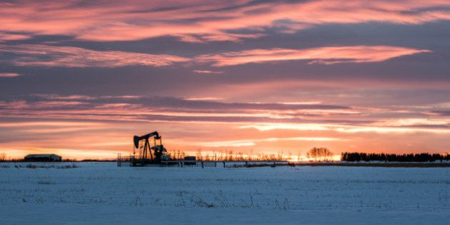 That's a wrap! Last sunset of 2014. Went for an Albertan theme, a lone pump jack on the