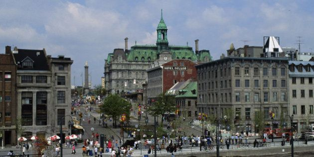 QUEBEC, CANADA - 1992/01/01: Canada, Quebec, Montreal, View Of Old Town With City Hall. (Photo by Wolfgang...