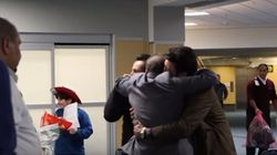 Video Captures Tearful Moment A Refugee Family Reunites In