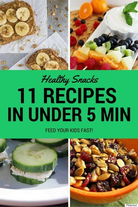 Healthy Snacks For Kids You Can Make In Under 5