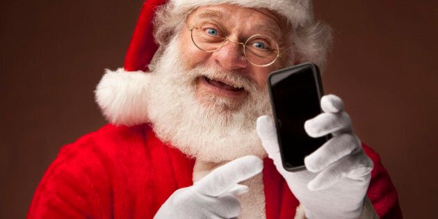Sant Claus Show Data on Smart Phone