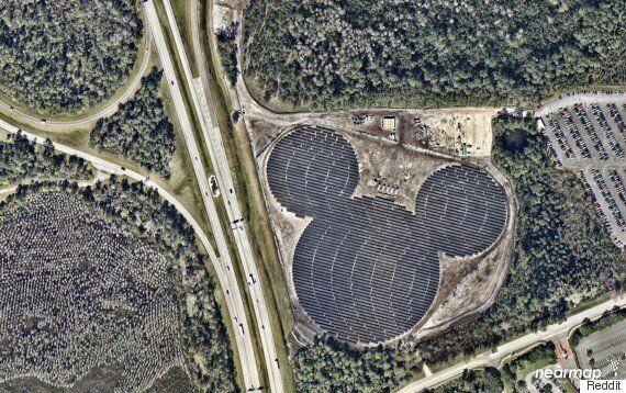 Hidden Mickeys: Disney's Solar Farm Is Unmistakable From The