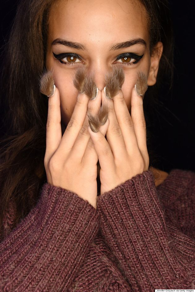 Libertine Models Don Fur Nails On The NYFW Fall 2016