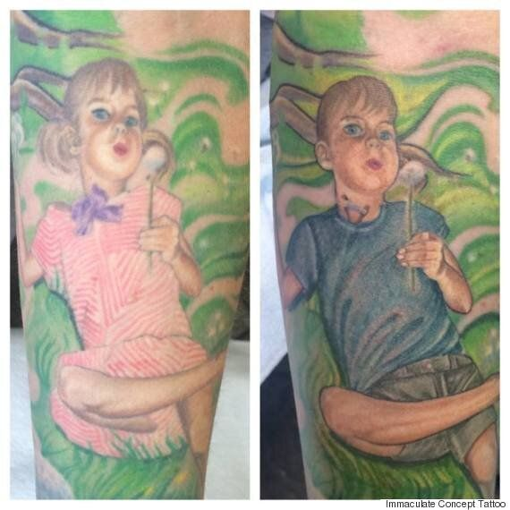 Calgary Artist Updates His Wife's Tattoo For A More Accurate Image Of Their