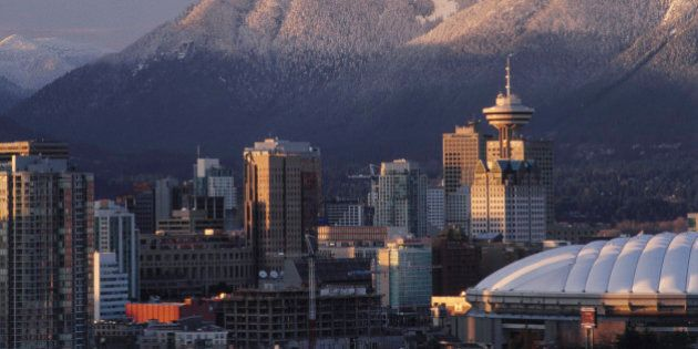 Skyline of Vancouver at