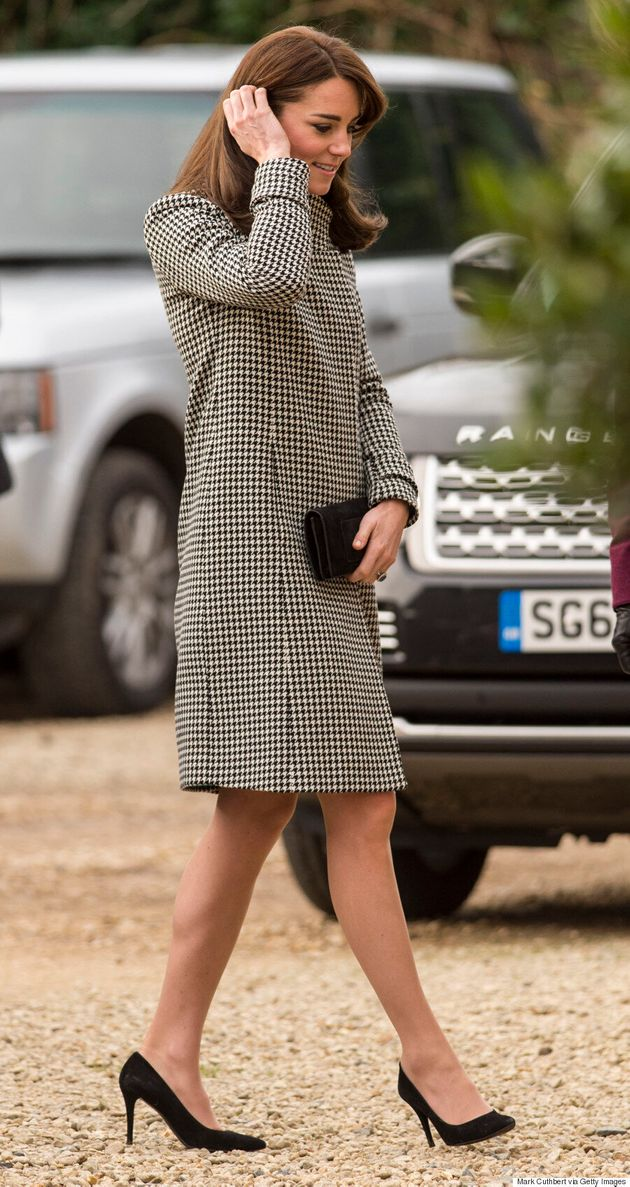 Kate Middleton Sports Affordable Houndstooth Coat From