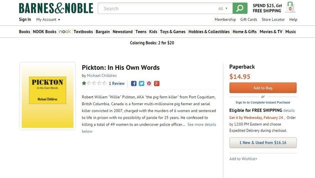 Robert Pickton Book: Killer's Self-Published Memoir Spurs