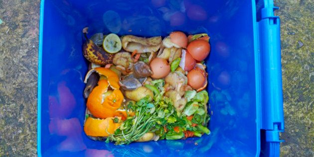 Food waste recycling caddy. The food waste in the UK is intended to be composted and thereby preventing...