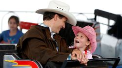 Trudeau And Ella-Grace At Calgary Stampede Are Too Stinking