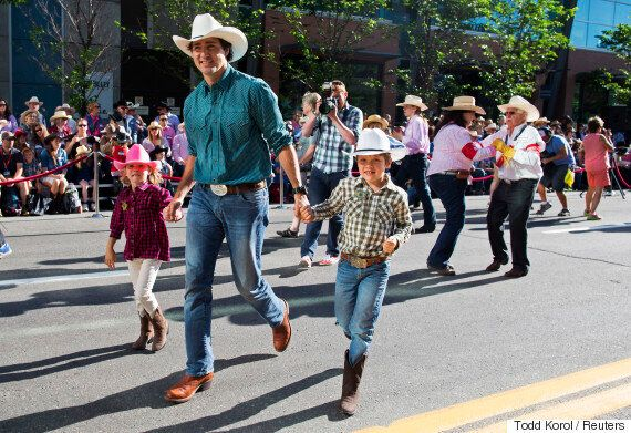 Justin Trudeau And Daughter At Calgary Stampede Are Stinking