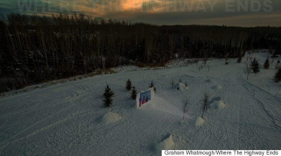 Fort McMurray Photographer Builds Movie Theatre Out Of Snow