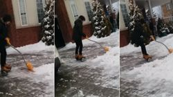 His Snow-Shovelling Technique Would Make Marty McFly
